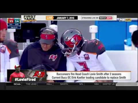 ESPN First Take 1 7 2016    Tampa Bay Buccaneers dismiss coach Lovie Smith after second season