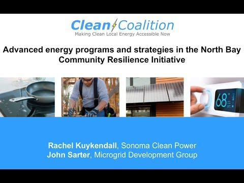 Advanced energy programs in the North Bay Community Resilience Initiative WEBINAR  52418