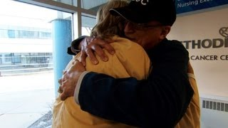 On the Road: Hospital greeter finds purpose after cancer diagnosis