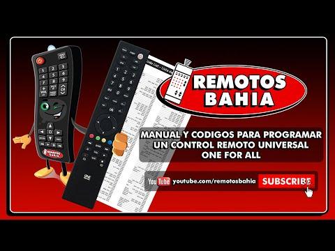 MANUAL Y CÓDIGOS PARA PROGRAMAR UN CONTROL REMOTO UNIVERSAL ONE FOR ALL URC-3840