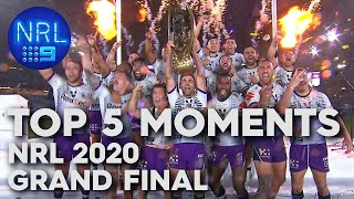 Top 5 Moments of the 2020 NRL Grand Final | NRL on Nine