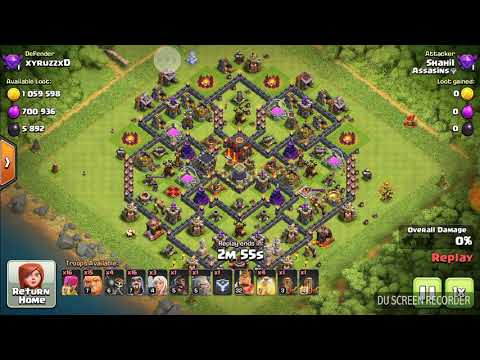 Omg ! 10 lac 60 k gold loot Without queen 100% destroy Th10 !!!