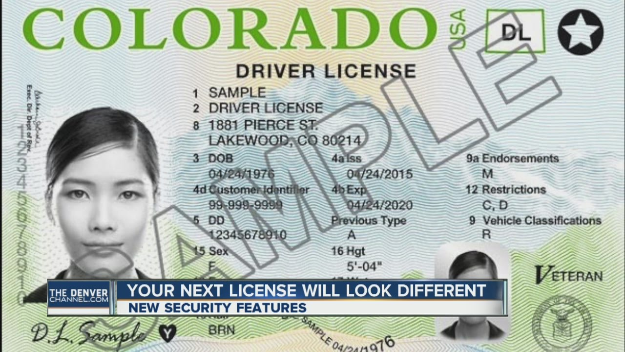 New look for Colorado's driver's licenses
