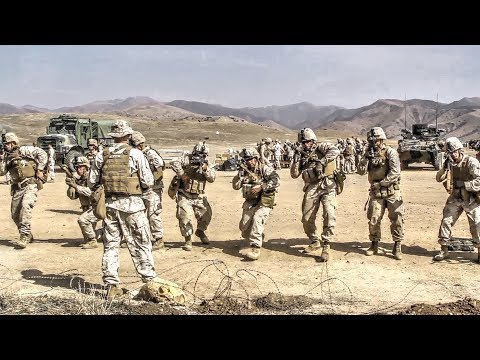 Marines Practice with Live Grenades, M203 Grenade Launcher and M4/M16 Rifles