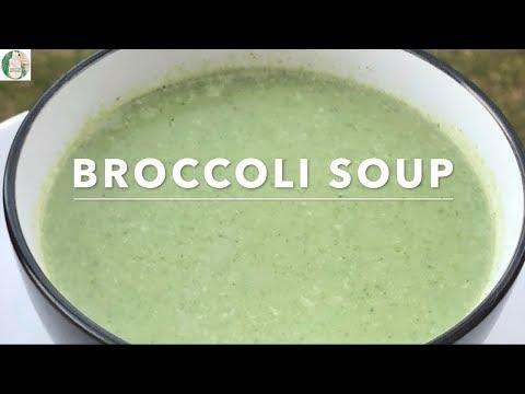Broccoli Soup - How To Make Broccoli Cream Soup - Sattvik Kitchen