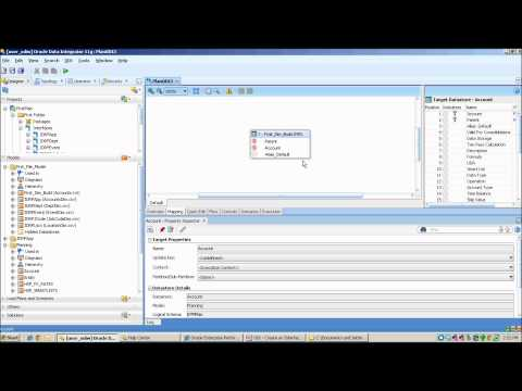 Creating an Interface in Oracle Data Integrator (ODI)