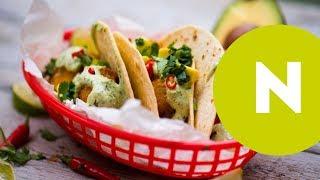 Halas taco joghurtos-chilis-zöldfűszeres szósszal
