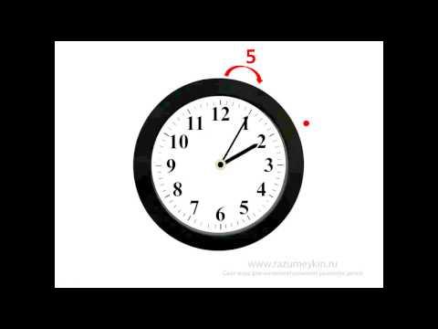 Как научить ребенка времени по часам видео