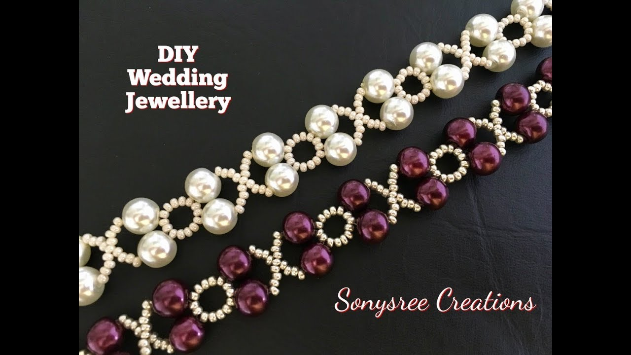 XOXO Beaded Bracelet Wedding Jewelry in 10 Minutes DIY
