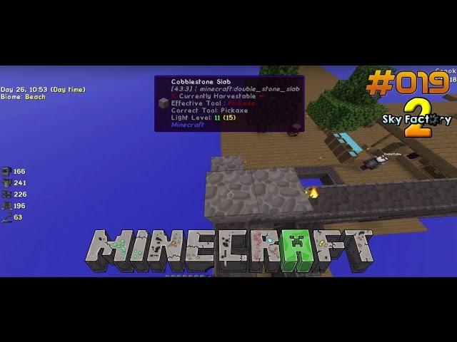 Let's Play Minecraft Sky-Factory 2 | Das wird ein Riesen Dach | Folge #019