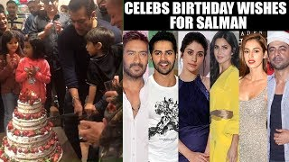 Bollywood Celebs Wish Salman Khan On His 54th Birthday | Katrina Kaif, Disha Patni, Ajay Devgn