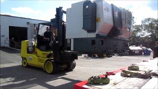 Global Machine Movers Offloading One Of Our Haas ST-30 CNC Lathes