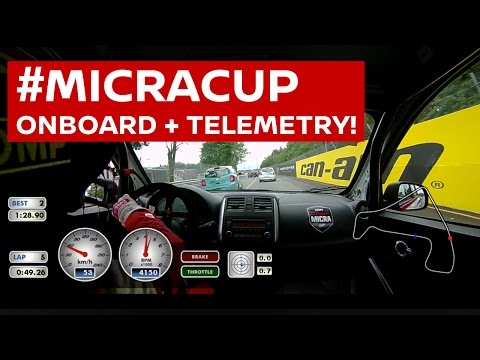 Extended #MicraCup Onboard, with telemetry! Cam from Nic Hammann's car racing at Trois-Rivieres