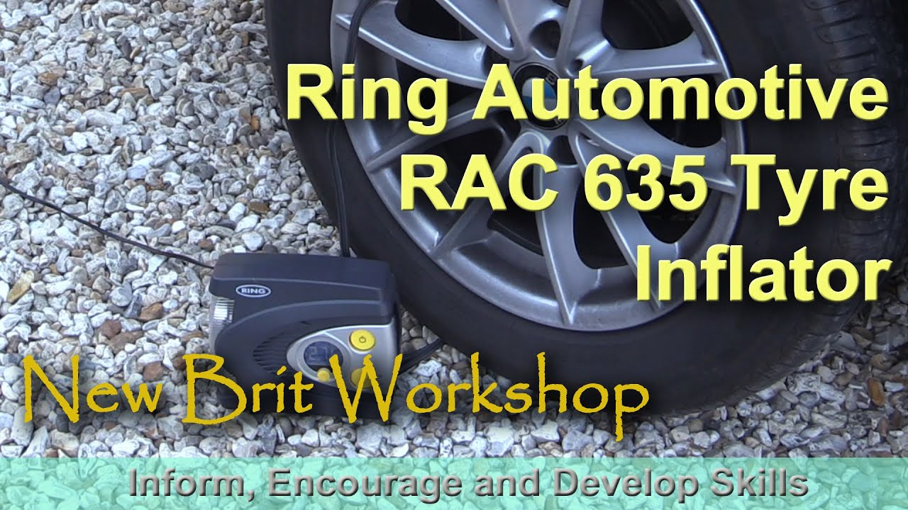 Ring rac605 Automatic Digital Motorbike Tyre inflateur with Motorcycle Adapteur