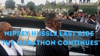 #NIPSEYHUSSLE #nipseyhusslememorial Nipsey Hussle one last victory lap through CRENSHAW AND SLAUSON