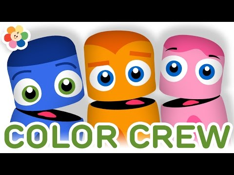 Color Collection 7: Blue, Orange, Pink   Color Learning Videos For Kids   Color Crew   BabyFirst