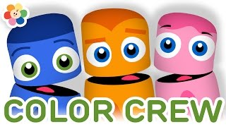 Color Collection 7: Blue, Orange, Pink | Color Learning Videos for Kids | Color Crew | BabyFirst