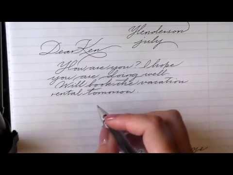 How to write cursive handwriting beautiful