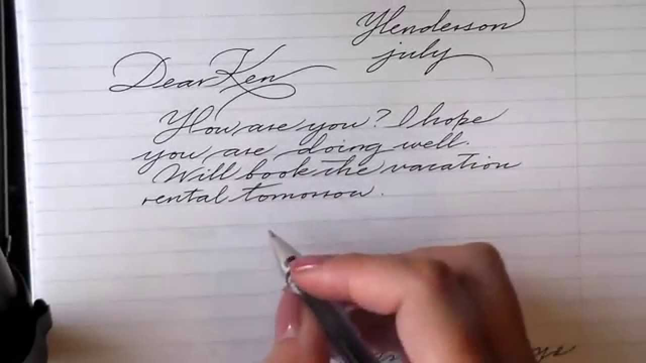 tips for improving cursive writing youtube