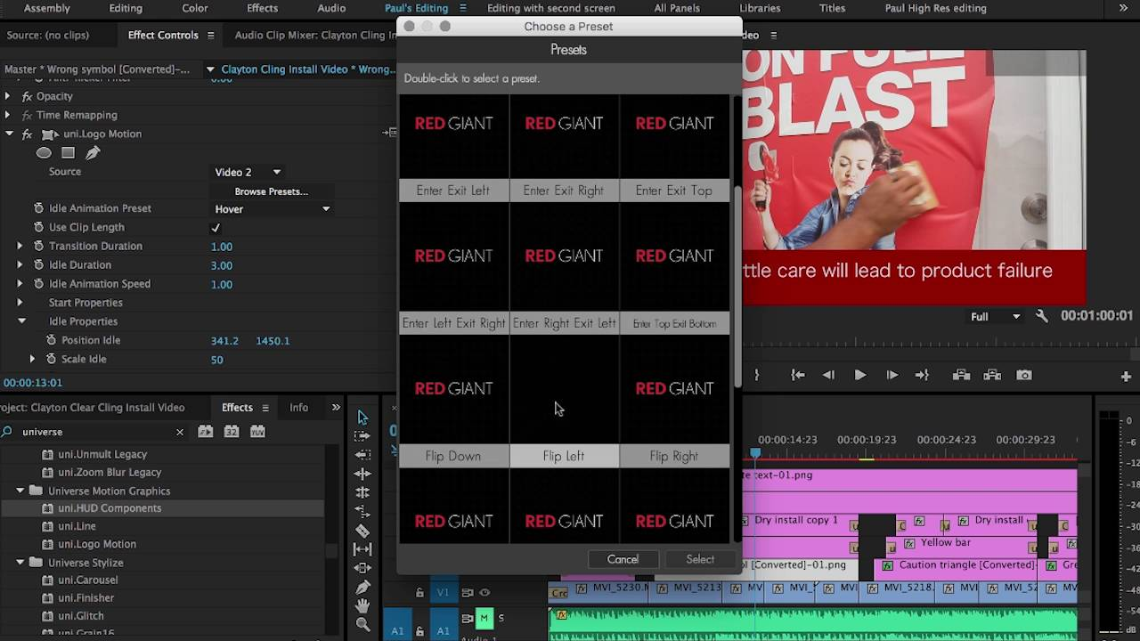 How To Quickly Animate Text And Graphics With Red Giant Universe 20