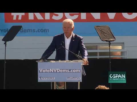 Fmr Vice President Biden Campaigns for Jacky Rosen Las Vegas, Oct 20 2018