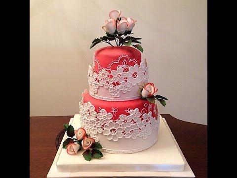 """Студия """"Арт Кейк"""". Свадебный двух ярусный торт на заказ с ..."""