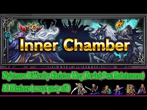 FF BE Inner Chamber Nightmare: Skeletong King; After Nerf(#248)