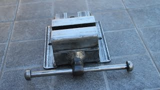 MORSA CASERA GROSA  -  HOMEMADE VISE TABLE