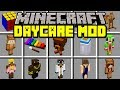 Minecraft DAYCARE MOD! | BECOME A BABY WITH MOOSECRAFT, UNSPEAKABLEGAMING, JEFF! | Modded Mini-Game