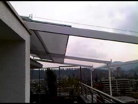 Toldo rigido telescopico policarbonato 1 3gp youtube - Toldos para lluvia ...