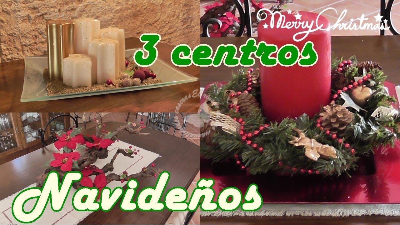 3 ideas para centros de mesa en navidad 3 ideas for - Mesa de navidad ...