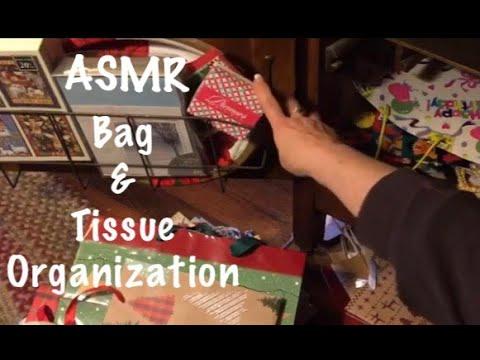 ASMR Gift bags & tissue paper organization. (No talking)