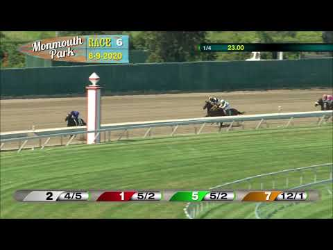 video thumbnail for MONMOUTH PARK 08-09-20 RACE 6