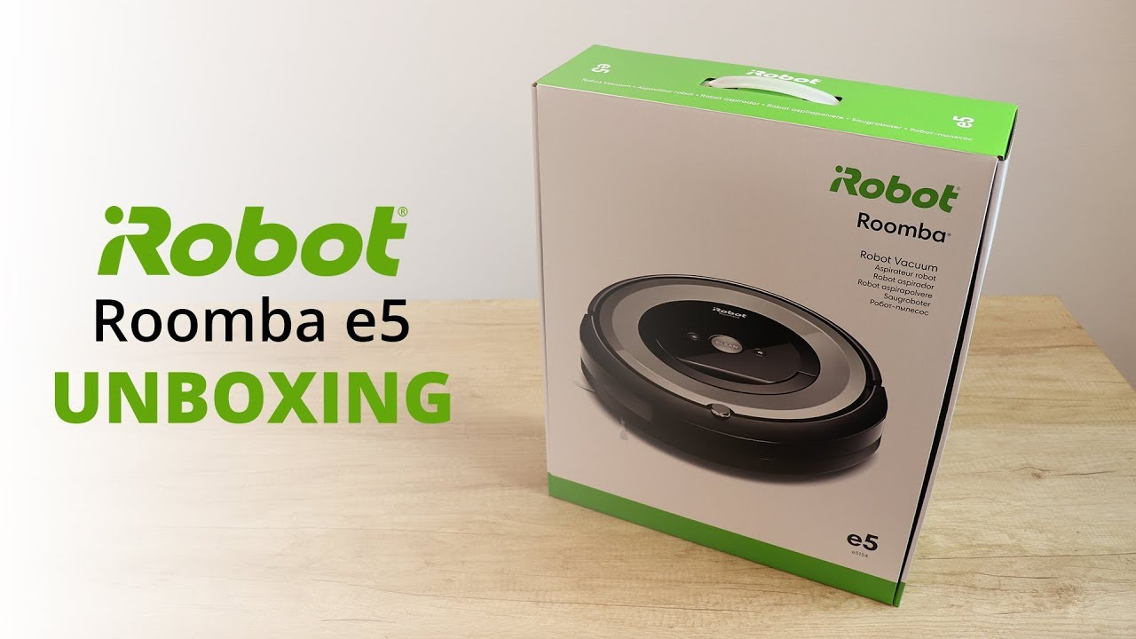 Irobot Roomba E5 Silver Unboxing Youtube