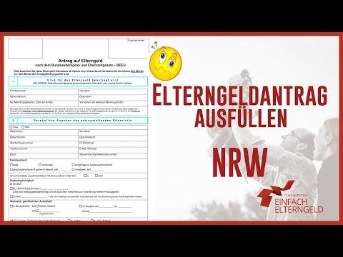 elterngeldantrag ausfllen nordrhein westfalen - Elterngeldantrag Ausfllen Muster
