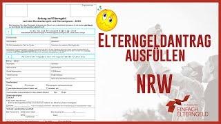 Elterngeldantrag ausfüllen - Nordrhein-Westfalen