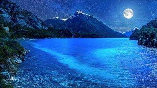 Música Relajante para Dormir con el Lago Patagónico Nahuel Huapi en la Noche de Luna!