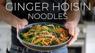 QUICK GINGER HOISIN UDON NOODLES RECIPE | EASY VEGAN DINNER IDEA