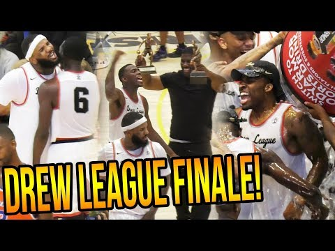 Drew League 2017 CHAMPIONSHIP - Gets HEATED! MVP Puts TEAM ON HIS BACK!