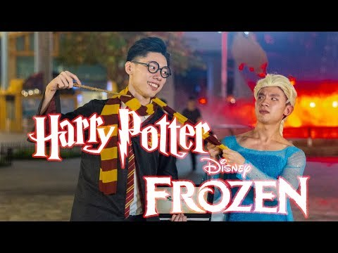 How Magicians Celebrate Halloween And Christmas (Ft. HARRY POTTER & ELSA)