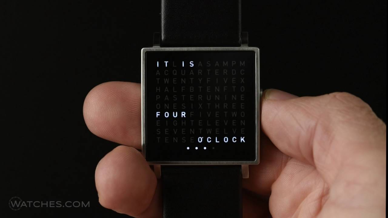 qlocktwo watch by biegert funk youtube. Black Bedroom Furniture Sets. Home Design Ideas