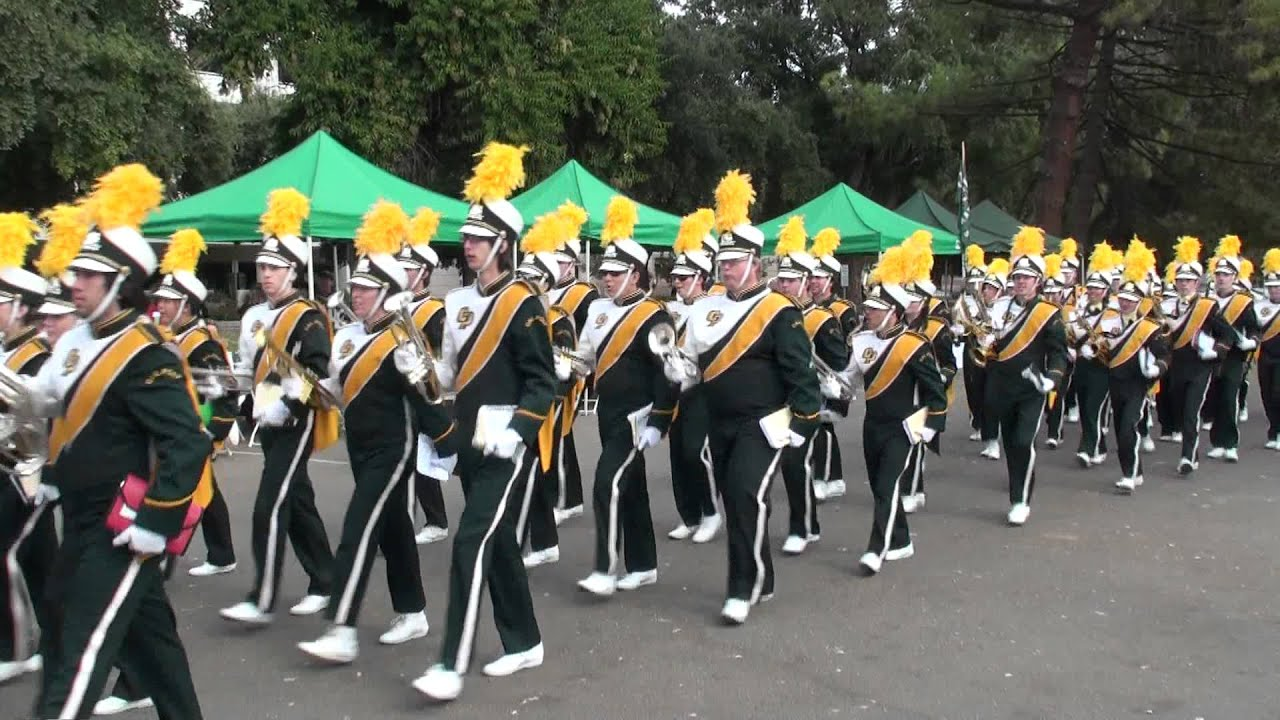 Cal Poly SLO marching band tailgate party performance at UC Davis on ...