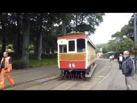 Manx horse drawn tram, electric tram and electric train journey.