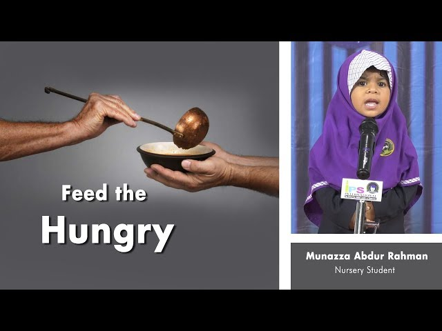 Feed the hungry : By Nursery student