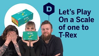On a Scale of One to T-Rex board game playthrough - Let's Play On a Scale of One to T-Rex