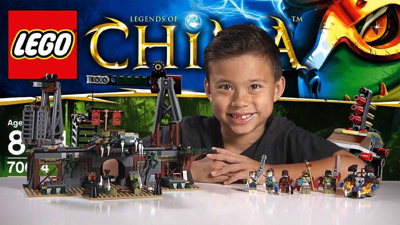 croc swamp hideout lego legends of chima set 70014 time lapse build