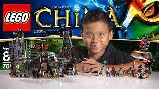 CROC SWAMP HIDEOUT - LEGO Legends of Chima Set 70014 Time-lapse Build, Unboxing & Review