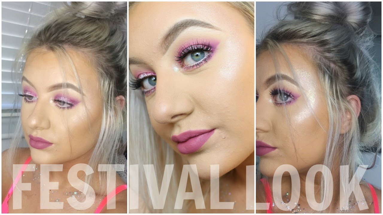 Glitter Festival Glam Face Body Art Thatspeach Youtube