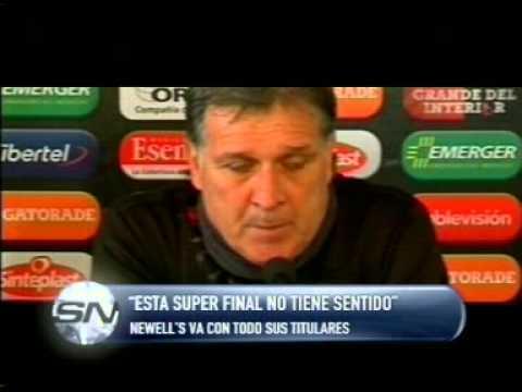 """ESTA SUPER FINAL NO TIENE SENTIDO""  GERARDO MARTINO -- DT NEWELL'S"
