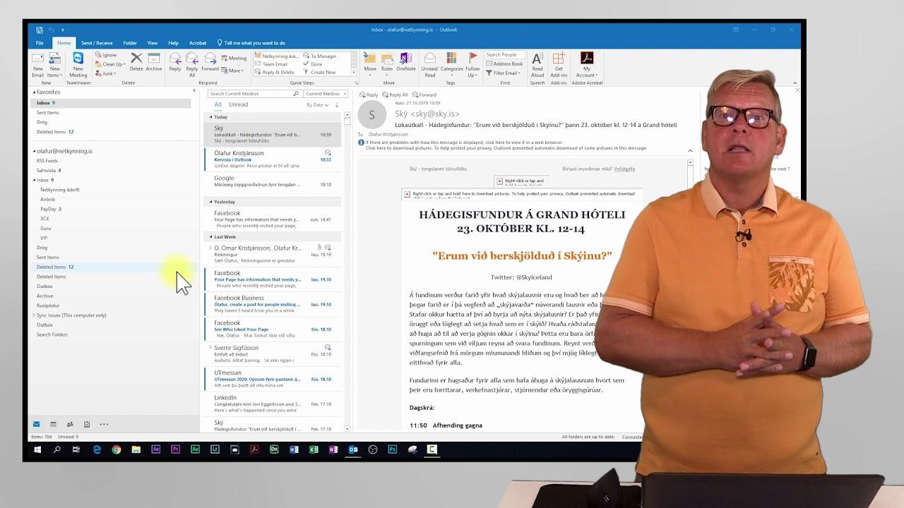 Að setja upp og nota Outlook - Kennslumyndband
